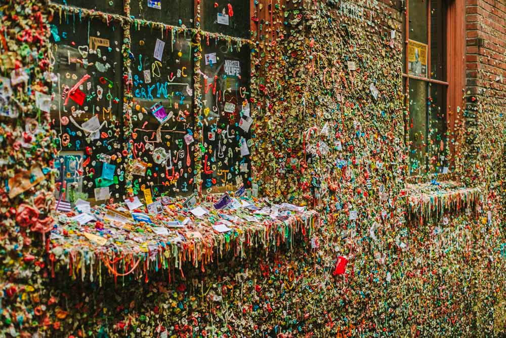 Gum Wall Seattle Washington Travel Photography