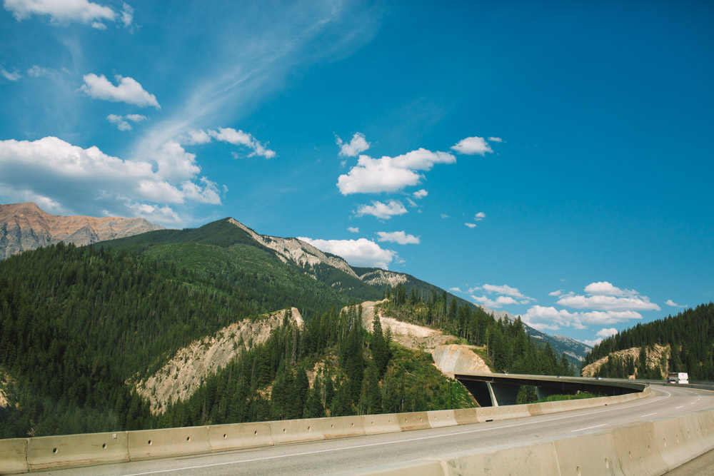 Driving Through The Rocky Mountains