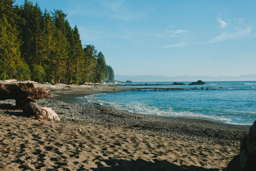 Camping at Sombrio Beach Juan De Fuca on Vancouver Island