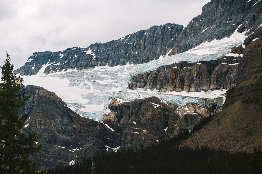 Glacier on Icefields Parkway