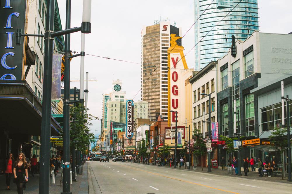 Vogue Theatre Granville St Vancouver BC