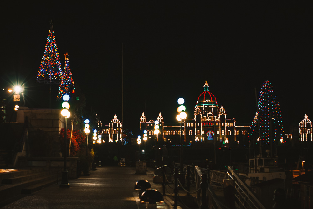 Victoria Legislature at Christmas