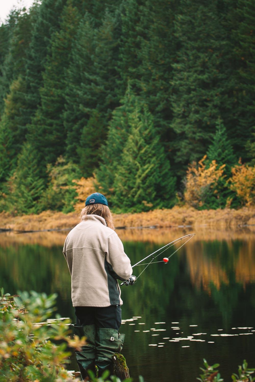 Fishing on Quadra Island