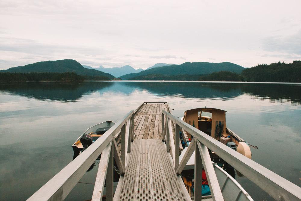 Boat Dock Looking Towards Maurelle Island on Quadra