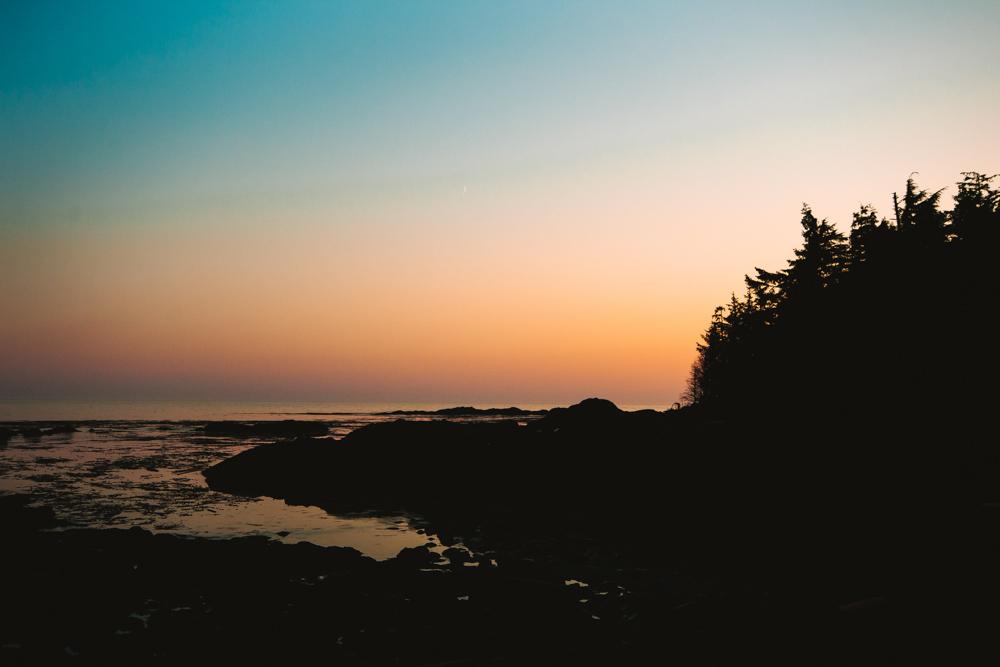 Sunset in Tofino British Columbia