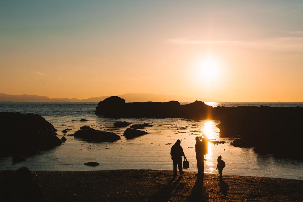 Sunset at Botanical Beach Port Renfrew British Columbia