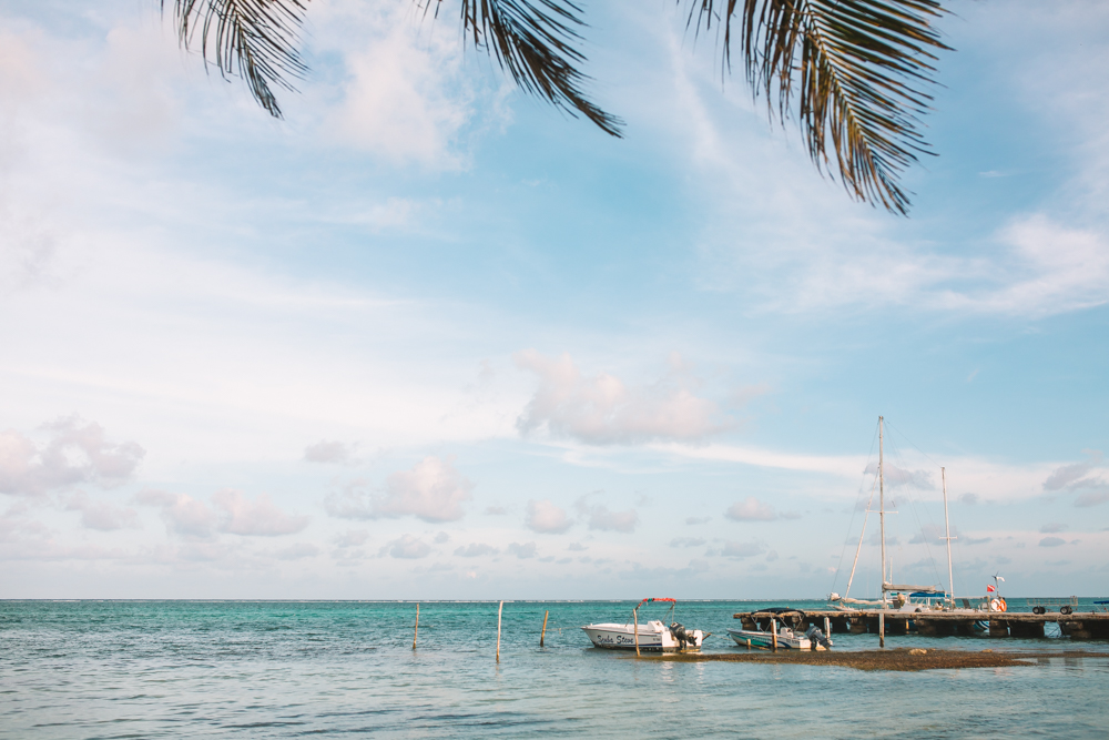 Main Beach in San Pedro Belize Travel Photography