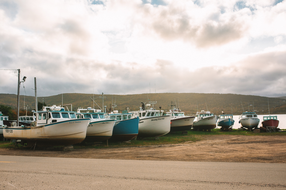 Boats at Bay Saint Lawrence Cape Breton
